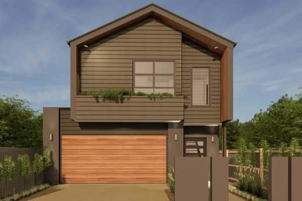 small lot home facade